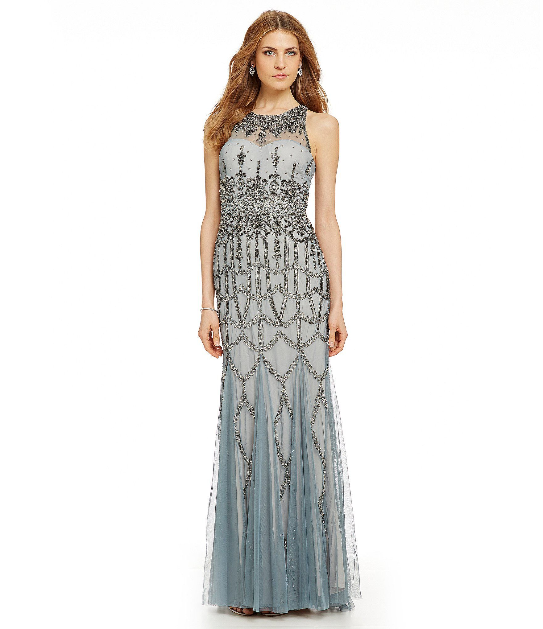 Shop for adrianna papell beaded halter gown at dillards visit