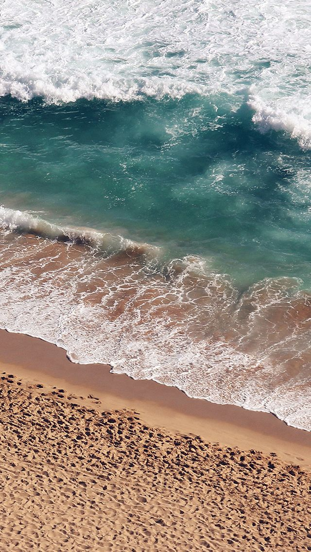 Beach Wave Coast Nature Sea Water Summer iPhone Wallpapers