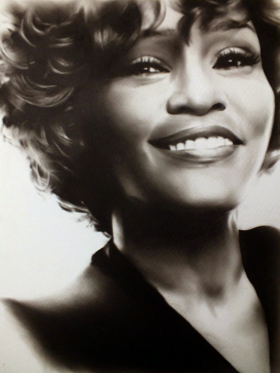 Celebrity drawings and paintings whitney houston