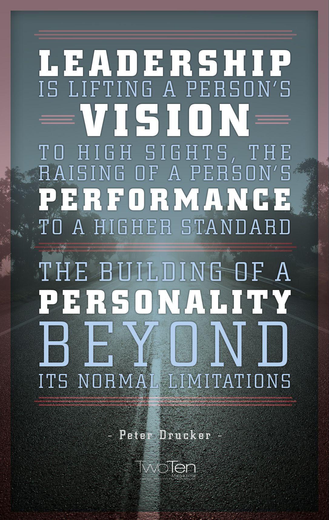 Peter Drucker Leadership, Vision, Performance