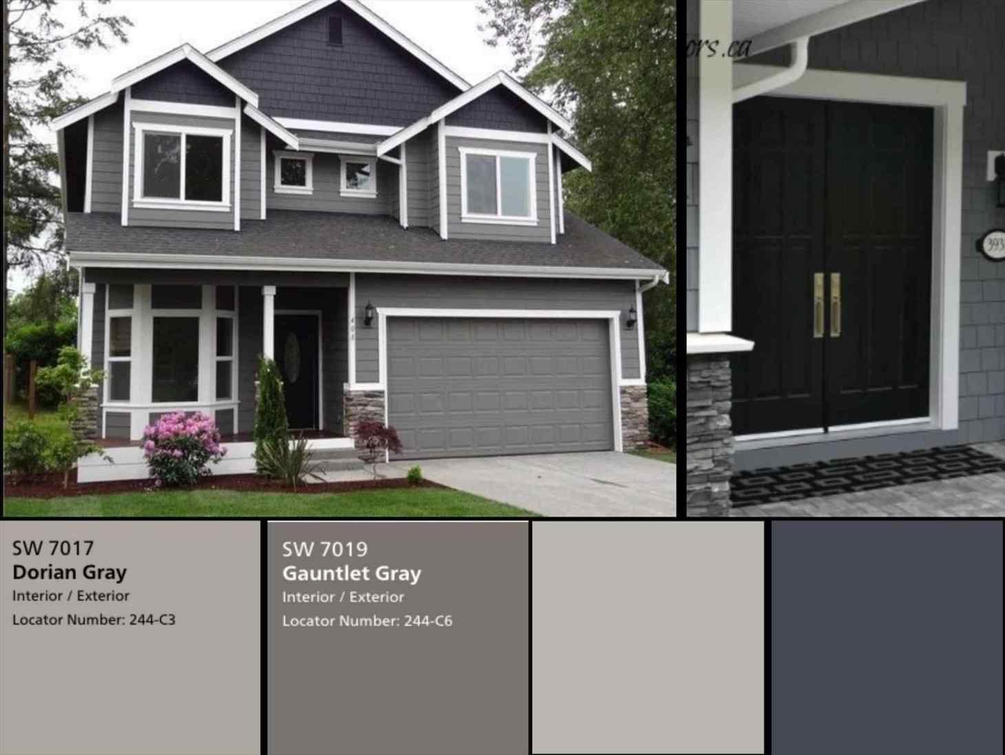 20+ Grey House Exterior Color Schemes   MAGZHOUSE