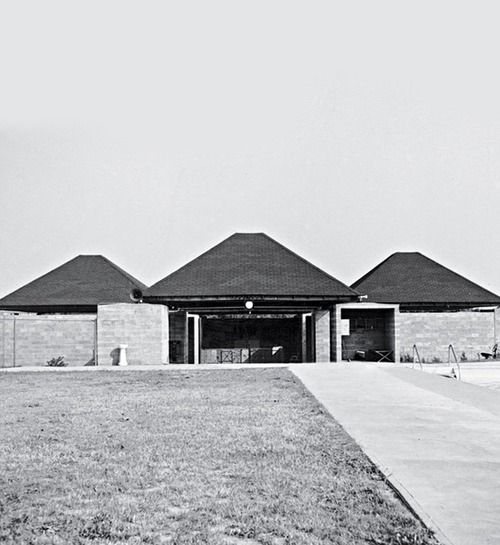 Louis Kahn + Anne Tyng | Trenton bath house, 1955  Marshall D. Meyers Collection - The Architectural Archives, University of Pennsylvania