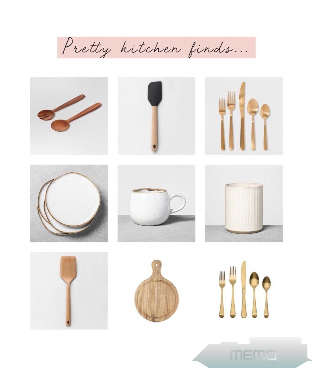 Farmhousehome Decorating Ideas: Wood Spoons, Wood Breadboards, Gold