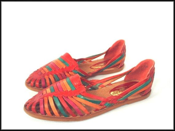 Vintage 80's huarache sandals lol I had some of these... they hurt and