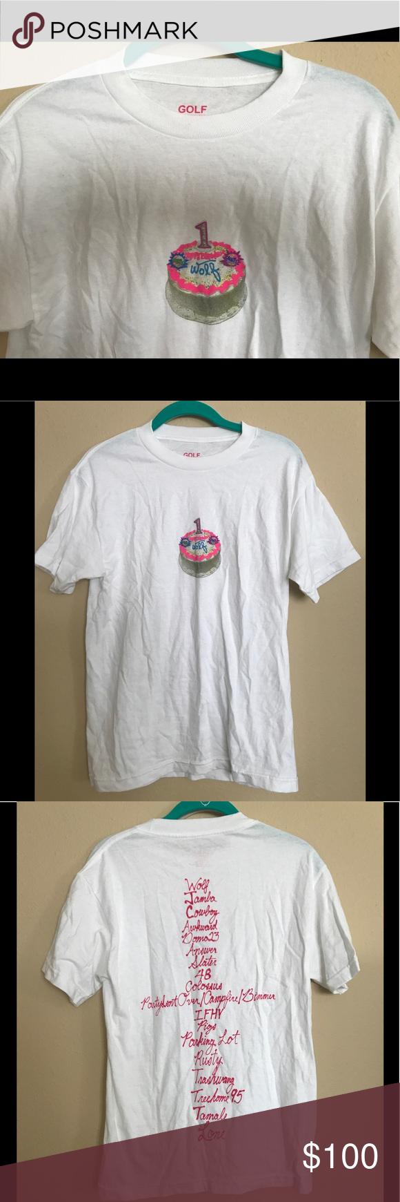 4334af3e2163 RARE Tyler The Creator  Wolf  1st Birthday T-Shirt NEVER WORN Tyler The  Creator   Odd Future   Golf Wang rare t-shirt. Golf Wang Shirts Tees -  Short Sleeve