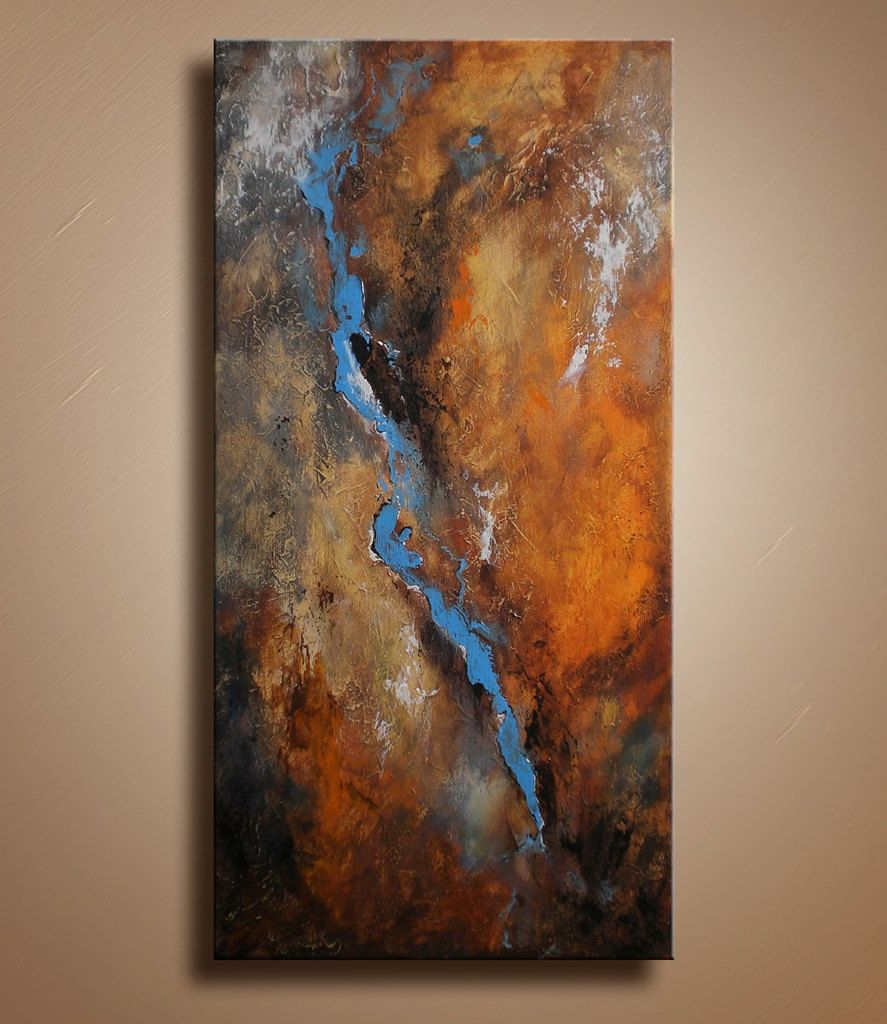 Original textured abstract painting on canvas contemporary for Texture painting on canvas
