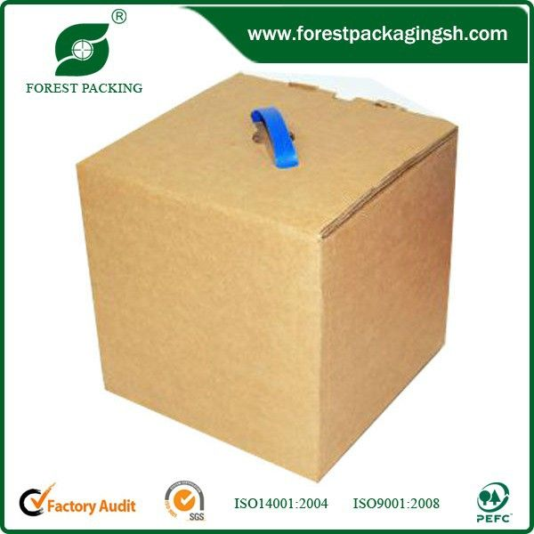 SQUARE BROWN CORRUGATED BOX WITH HANDLE(FP600213) | Boxes
