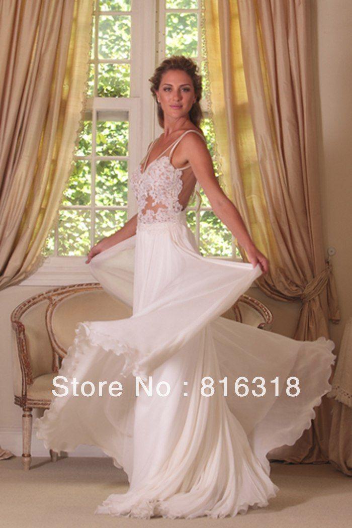 Backless Beach Wedding Dress -