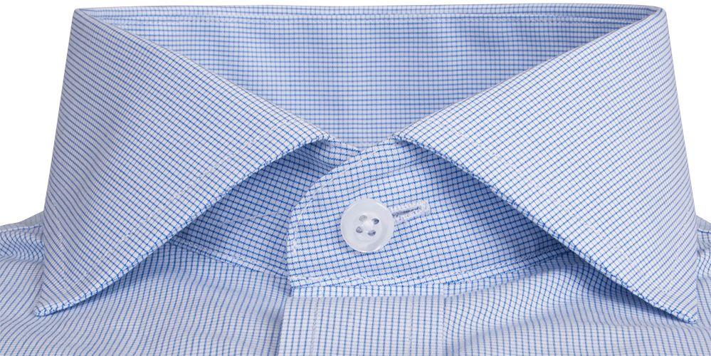 Blue Mini Grid Custom Dress Shirt by Proper Cloth