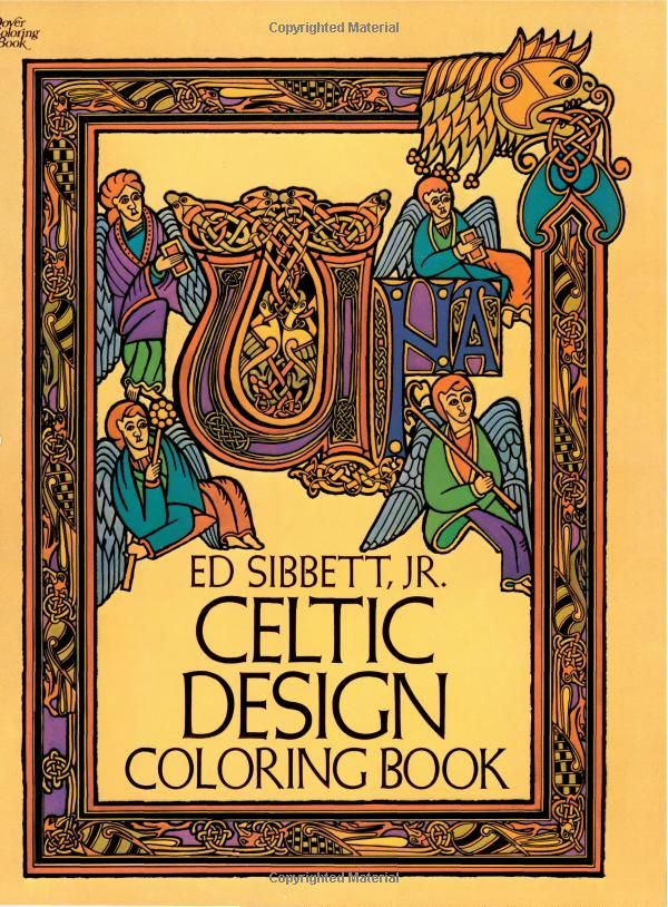 Celtic Design Coloring Book Dover Books Ed Sibbett Jr