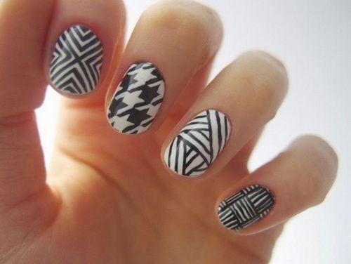 25 creative black and white nail design ideas white nail designs 25 creative black and white nail design ideas prinsesfo Choice Image