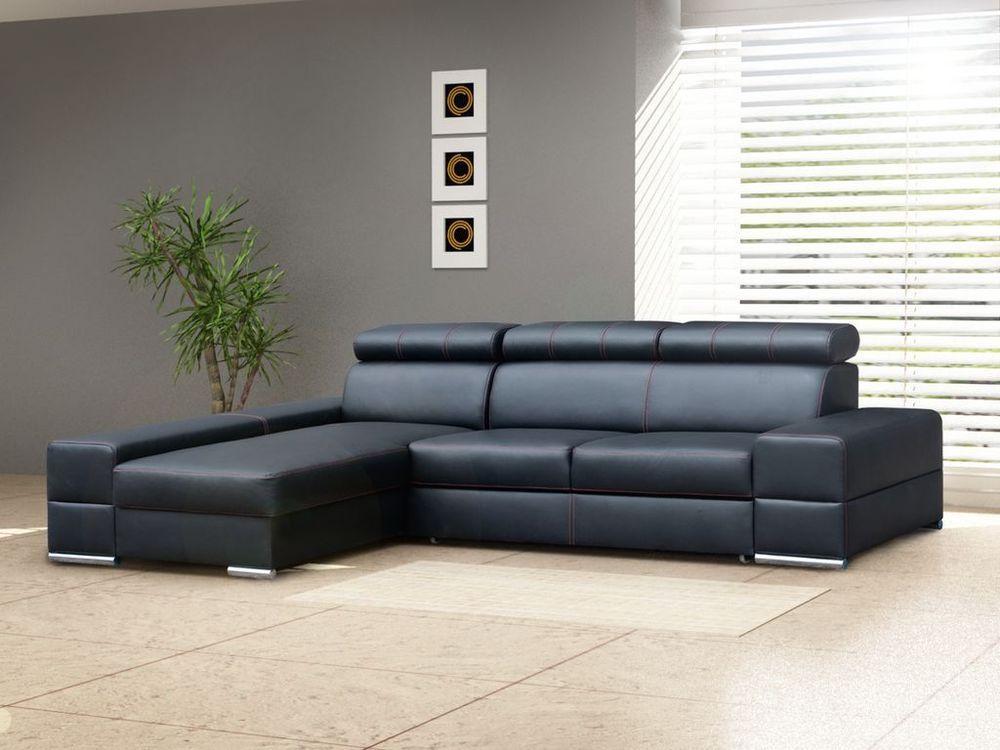 Comfortable Corner Sofa Bed Anzio With Headrests Many Colours Black White Red Corner Sofa Luxury Sofa Corner Sofa Bed