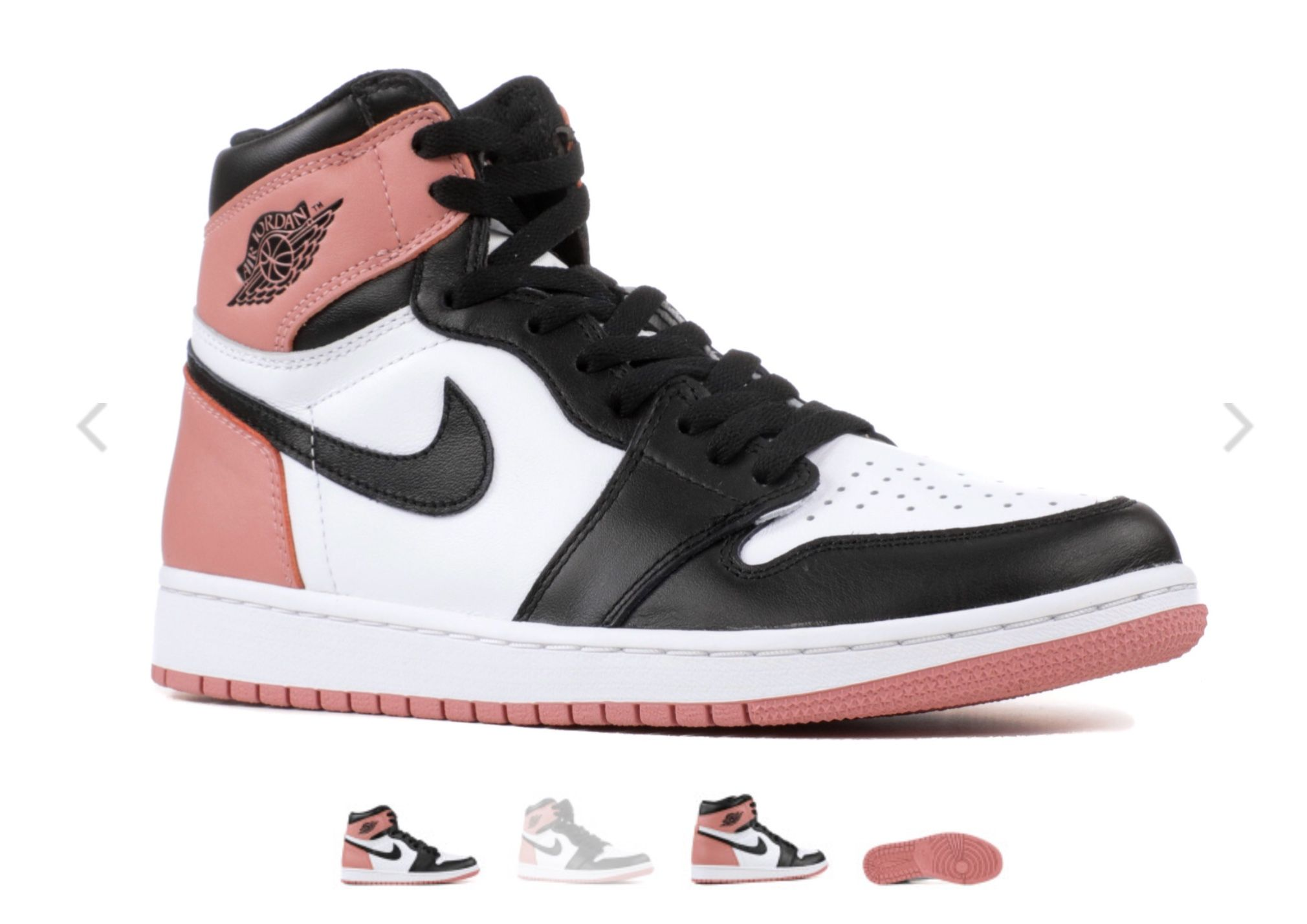 air jordan 1 retro high rosas y negras