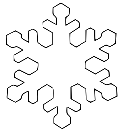 Snowflake outline. Free black and white