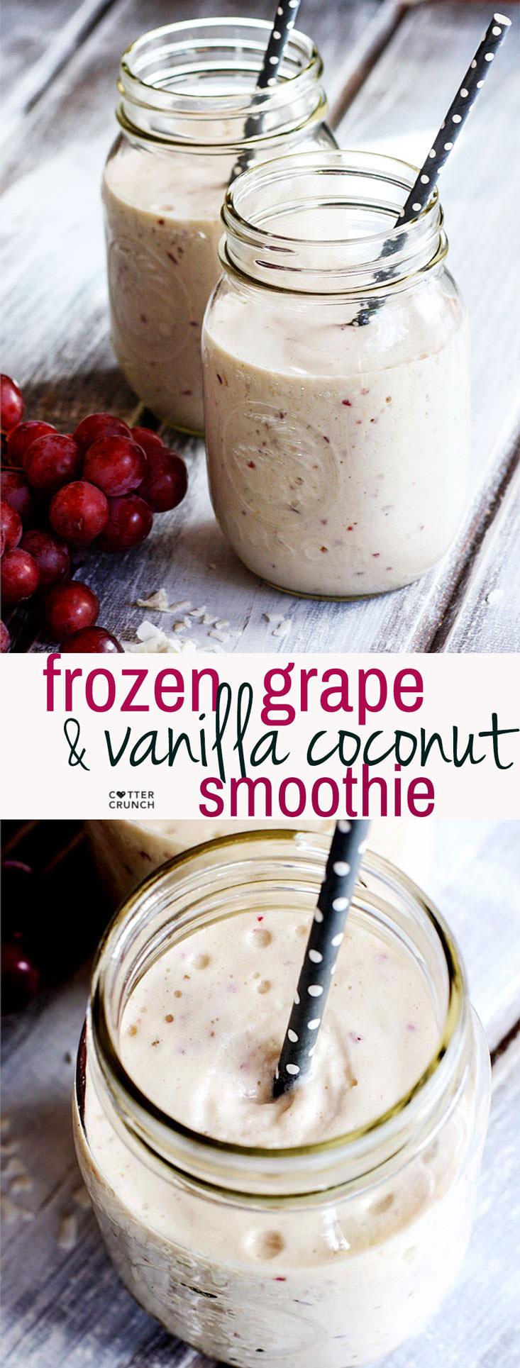 Creamy Grape and Vanilla Coconut Dairy Free Smoothie #dairyfreesmoothie