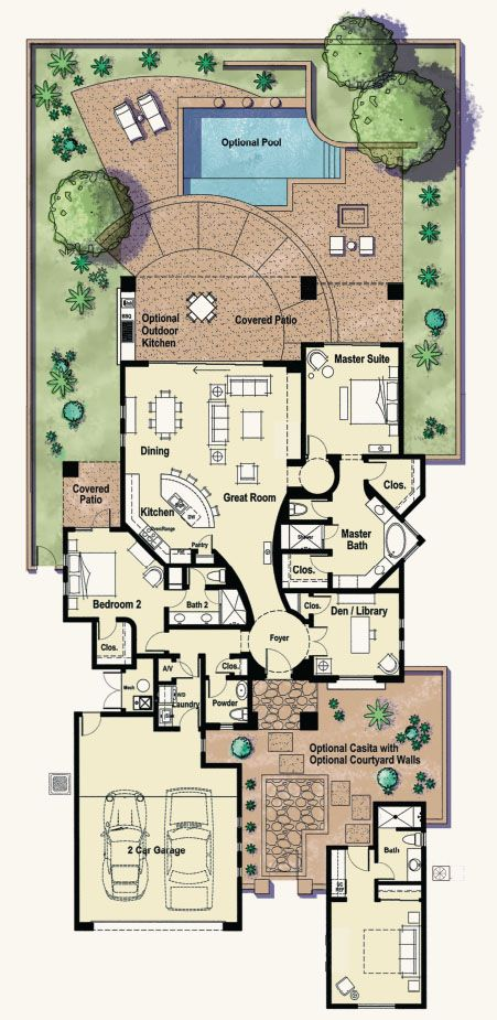 Fremont Floorplan Tucson Luxury Homes At The Residences Floor Plans Dream House Plans How To Plan