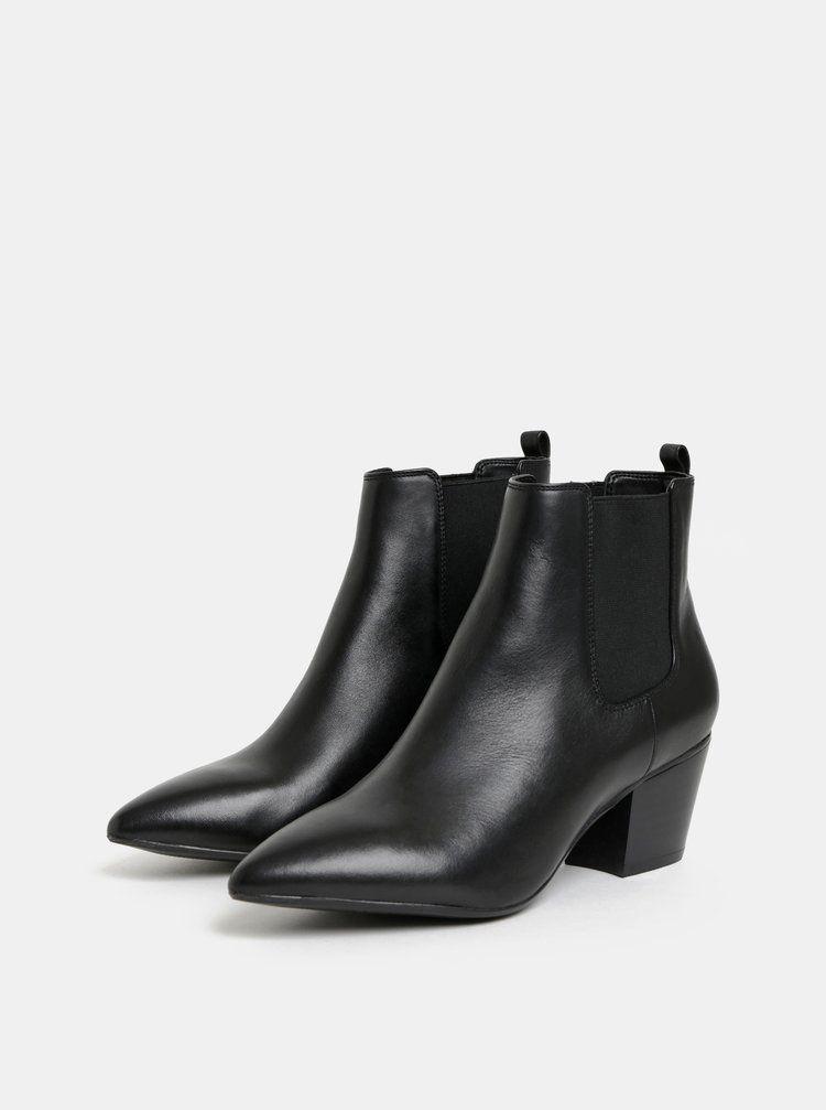 47157f3559df Čierne dámske kožené chelsea topánky ALDO Grillan