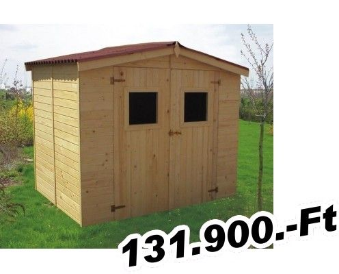 kerti faház vagy szerszámtároló  Mátra (Tip 119) panel szerszámtároló padlózattal és bitumenes hullámlemezzel