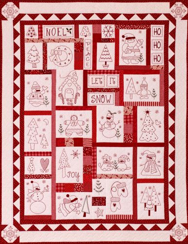 Free Christmas Redwork The Stitch Connection Quilts Spring