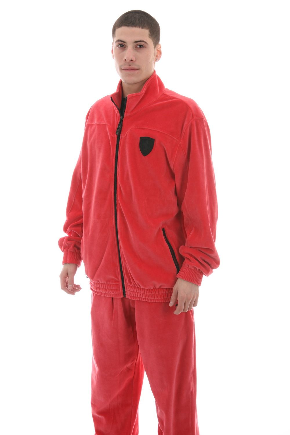 9dd68c6b4d1 Men's Velour Sweat Suits | Puma Men's Ferrari Lifestyle Velour Sweatsuit  (565310-03)
