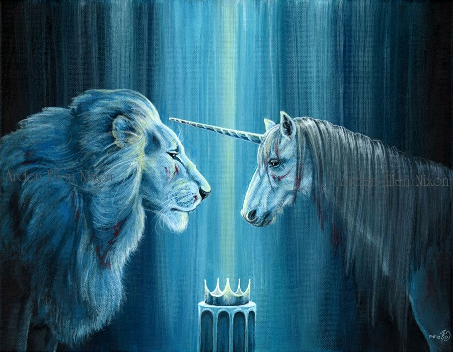 The lion and the unicorn.