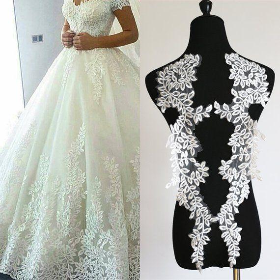 Ivory Applique Lace Trim Scalloped Sewing Bridal Wedding Dress Edge 1 Metre