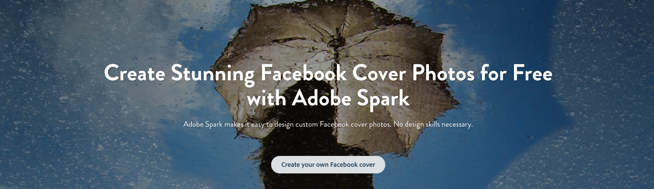 adobe spark s free online facebook cover maker helps you create