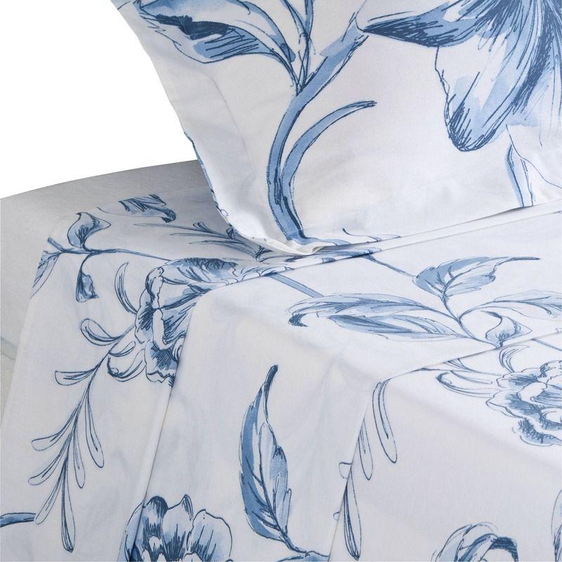 Maat 270 x 300.......Laken met romantische bloemenprint GYSEL