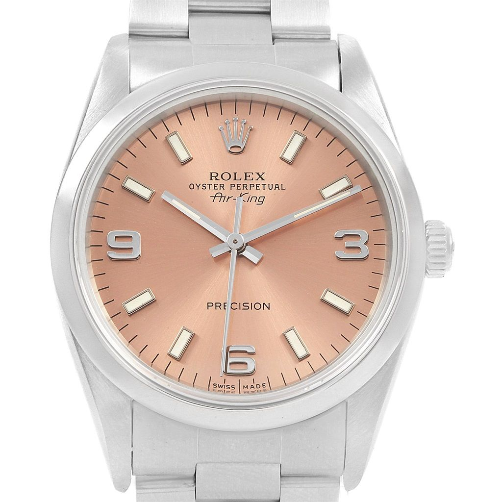 21199 Rolex Air King 34mm Automatic Steel Unisex Watch