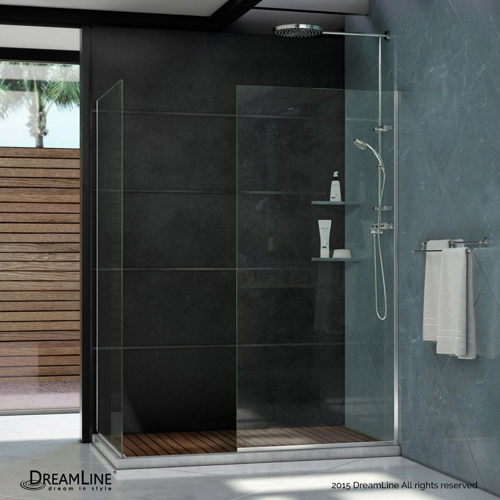 Linea 30 Inch X 72 And 34 Semi Frameless Shower Door In Chrome
