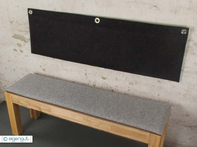 ma gefertigtes wandkissen aus filz dining and interiors. Black Bedroom Furniture Sets. Home Design Ideas