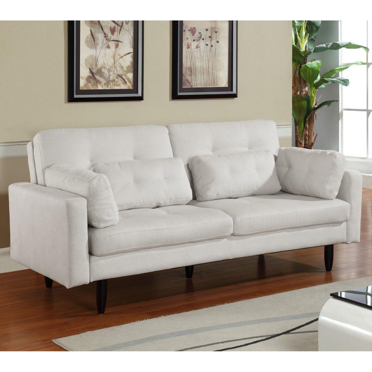 Encore Bone Fabric Convertible Sofa 599 Dimensions 83 9l X 39 8w