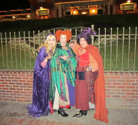 Watch Out!!! Heading into Disney park for Halloween Party 2012 - sisters halloween costume ideas
