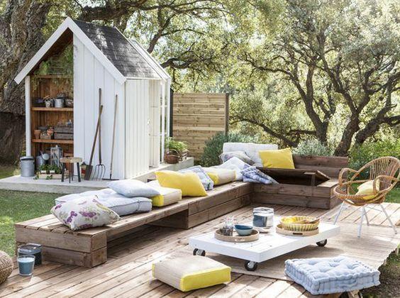 15 magnifiques salons de jardin en palettes ! | Amenagement ...