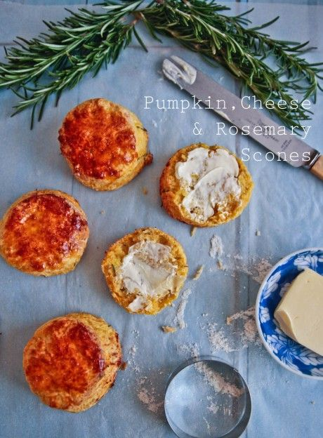 Pumpkin, Cheese & Rosemary Scones @Lorraine Siew Elliott