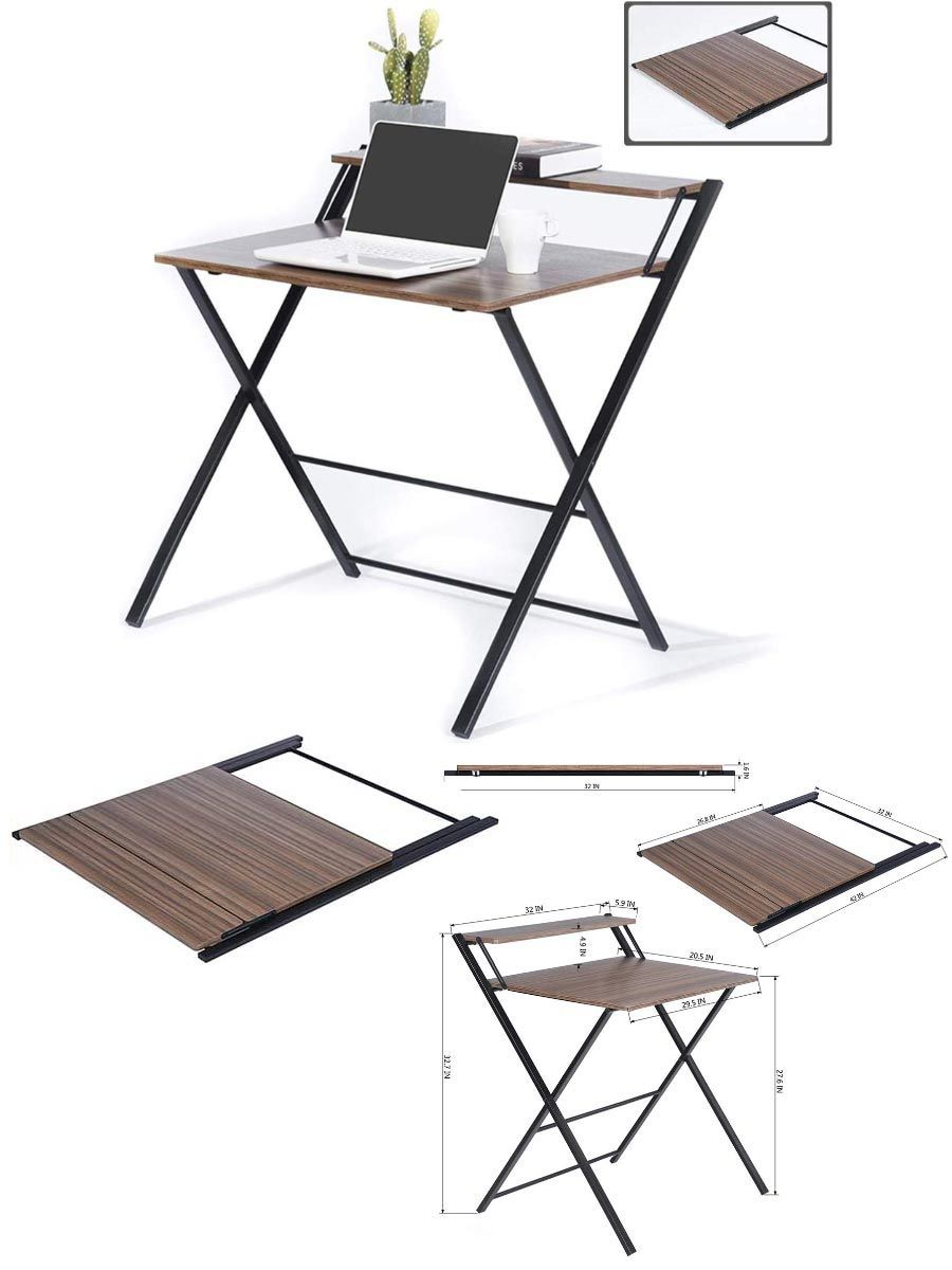 Photo of Folding no assembly desk