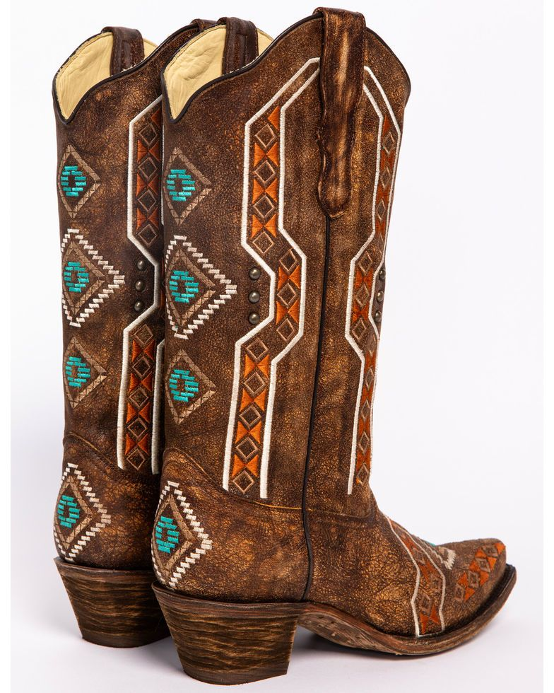 c87034ca5d9 Corral Women's Aztec Embroidered Cowgirl Boots - Snip Toe in 2019 ...