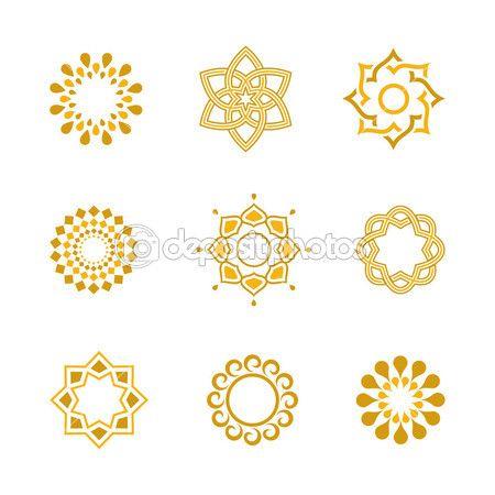 Vektor set Luxus gold Schreibschrift Elemente und Seite Dekoration — Stockillustration #31112717