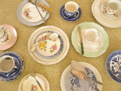 The Bowerbird: Second-hand shop crockery_I love mismatched pieces of ...