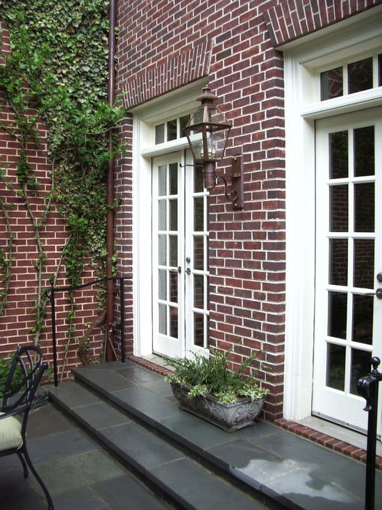 I like the stairs in bluestone. level with the doors ... on Backdoor Patio Ideas id=23600