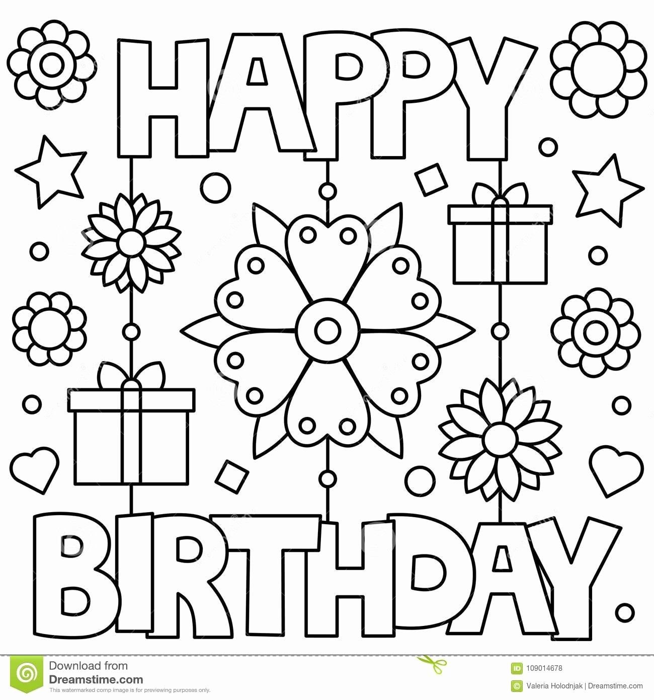 Birthday Card Coloring Page Awesome Birthday Printables ...