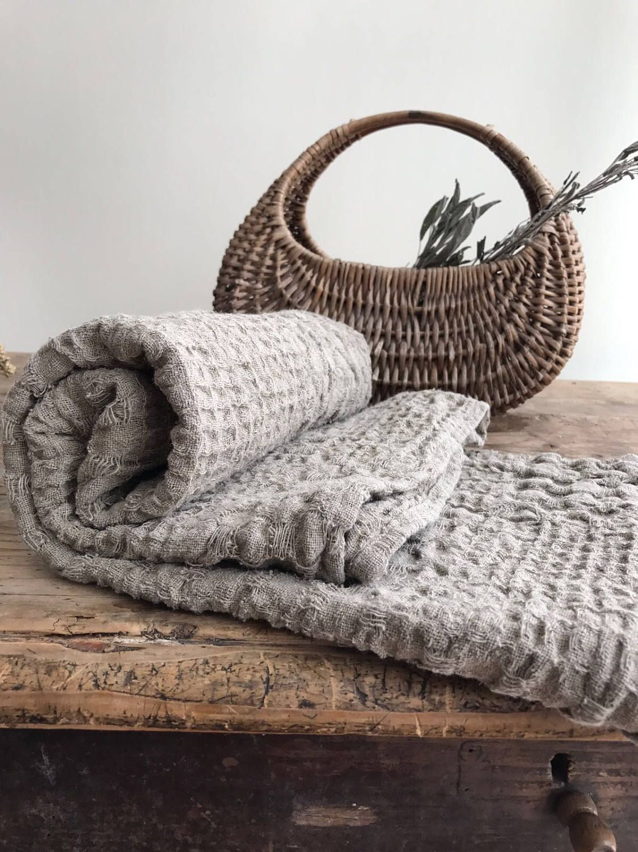 Rustic Linen Bath Towel Massage Towel Beach Sheet Bath Sheet