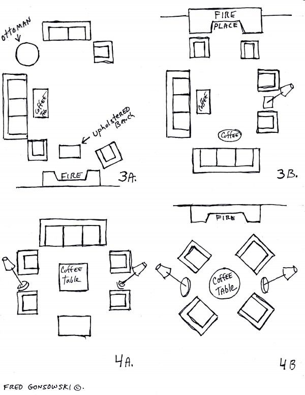 Furniture Placement in Square Living Room | Rectangle ...