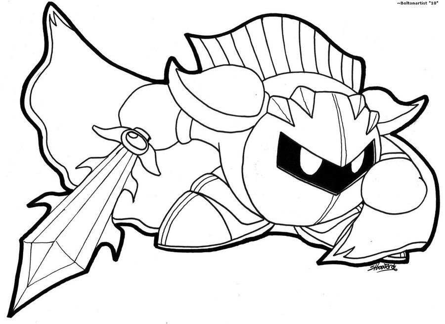 meta knight coloring pages az