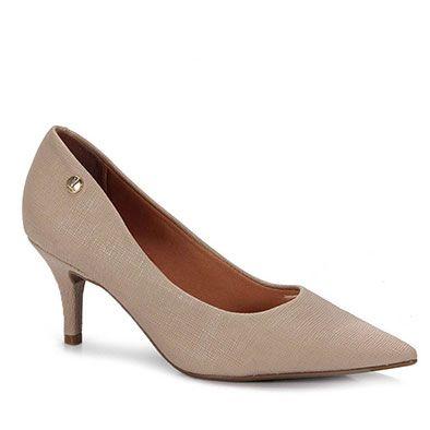 cbfee6d884 Sapato Scarpin Feminino Vizzano - Bege