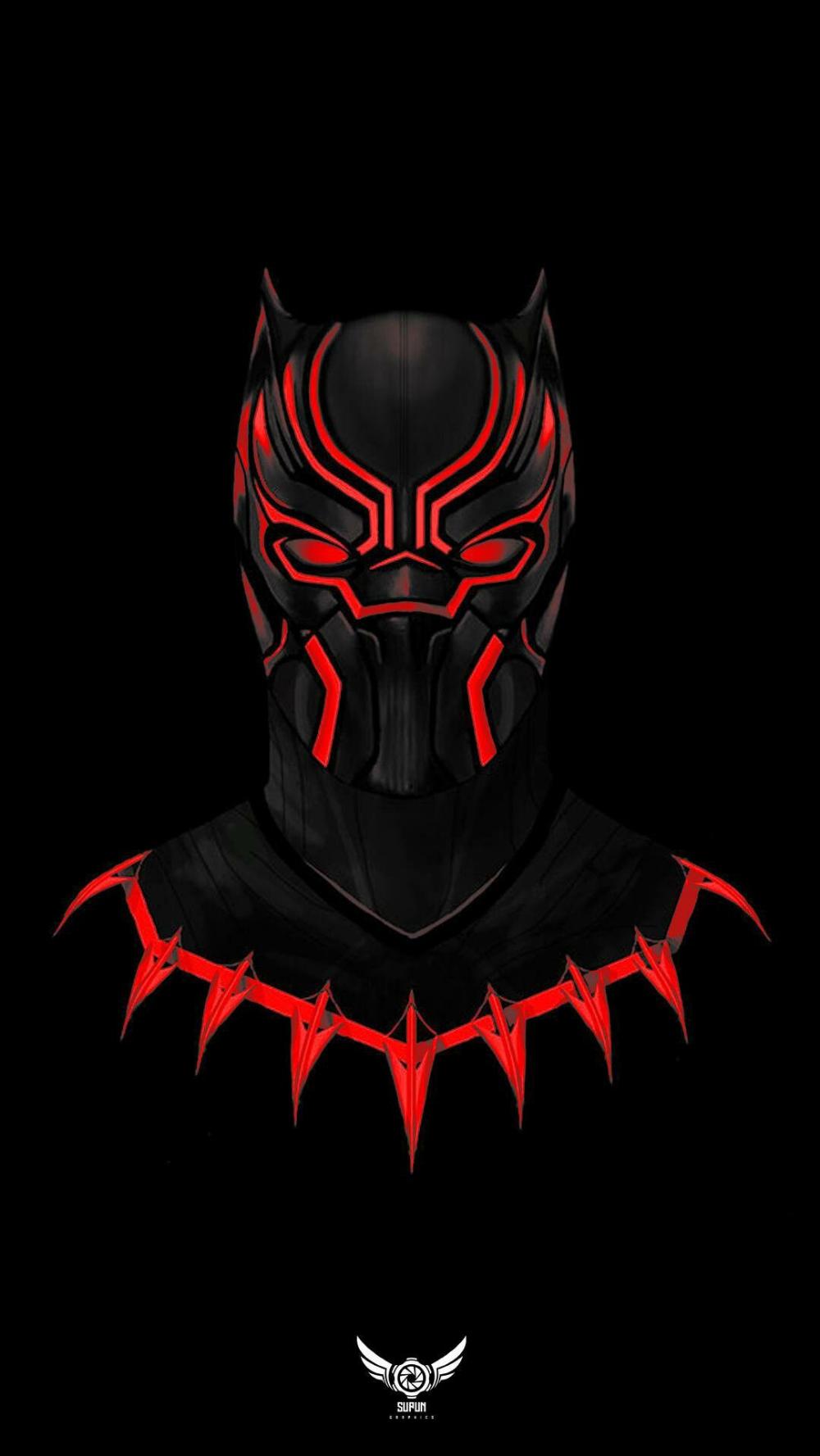 Black Panther wallpaper red Imageantra Black panther
