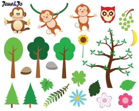 Jungle Animals Clipart And Digital Paper Jungle Clipart Etsy In 2021 Animal Clipart Zoo Clipart Jungle Animals