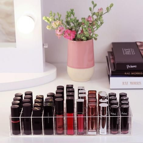Photo of TidyUps   ONE FOR LIPSTICKS   Make-up organizer made of acrylic for IKEA ALEX, MALM and other dressing tables