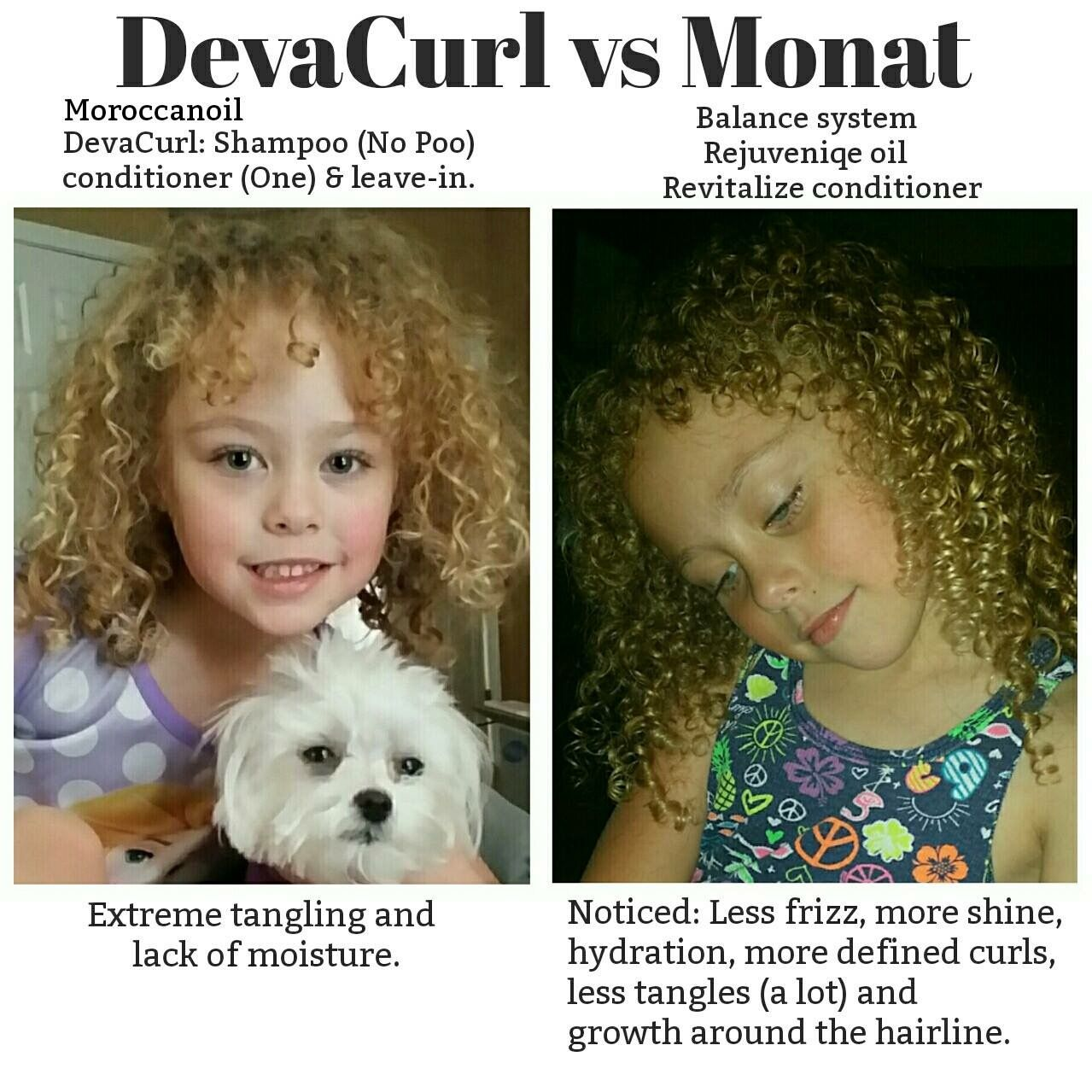 Monat before and after rejuveniqe oil non toxic hair care