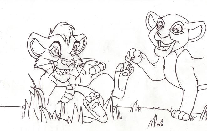 Lion King Kovu And Kiara Coloring Pages Lion King Kovu Coloring Pages Lion King
